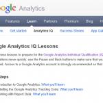 Google Analytics IQ Lessons勉強中