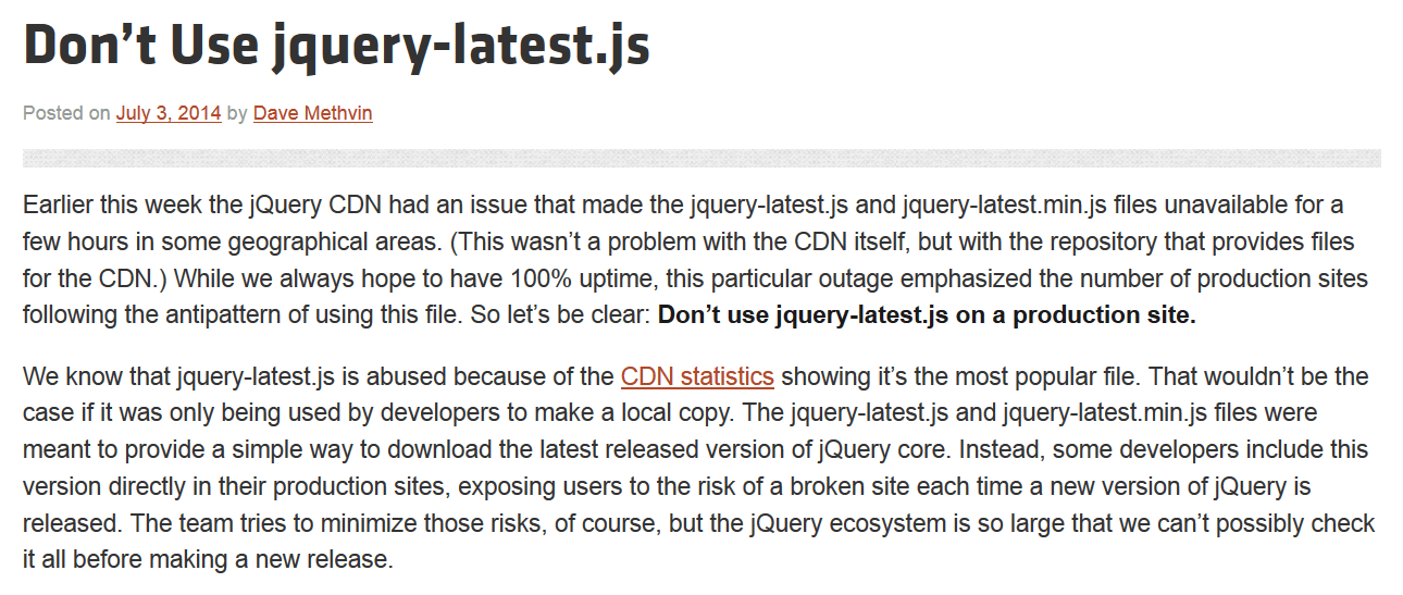 dont-use-jquery-latest-js