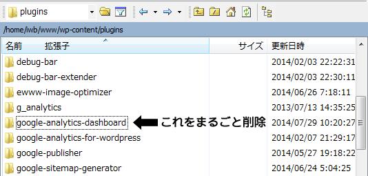 【修正解決法】Please open this page in the Admin panel only.が表示されたらgoogle-analytics-dashboardプラグインを削除