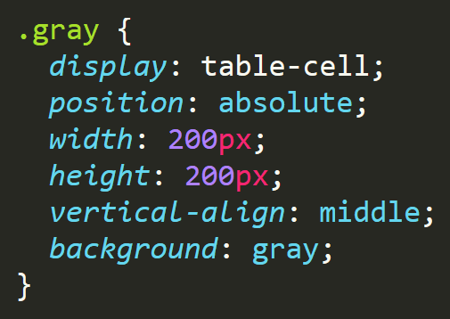 display:table-cellにposition:absoluteを付けるとvertical-align:middleが無効になる