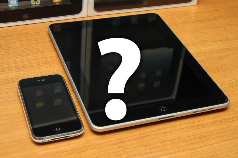 問題:iPhoneにあってiPadとiPod touchにないのは次のうちどれでしょう?(複数選択可)