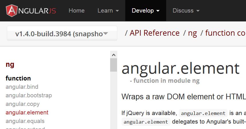 AngularJSのjqLiteの使い方と3つの注意点