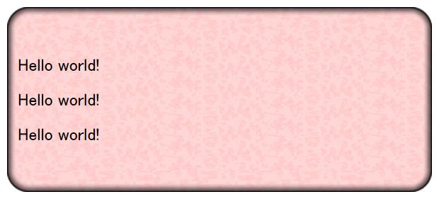 最後に中部の背景画像を指定してrepeat-yで繰り返す。画像の右側を表示させるためにbackground-position: -400px 0;で位置を調整している。