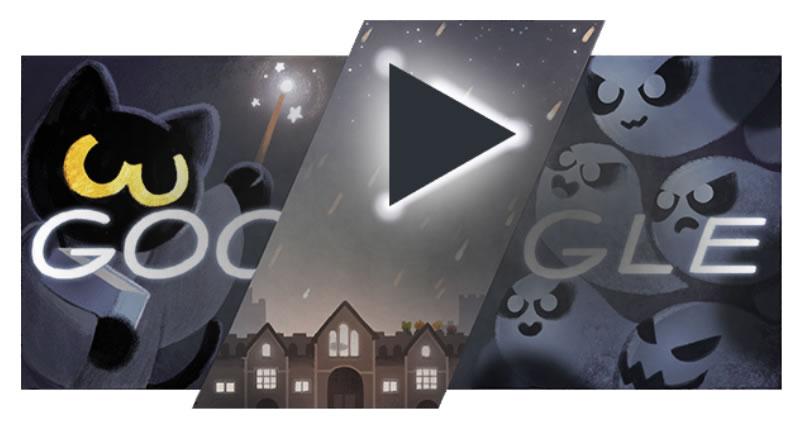 GoogleDoodleのゴースト退治ゲームを簡単にクリアする方法