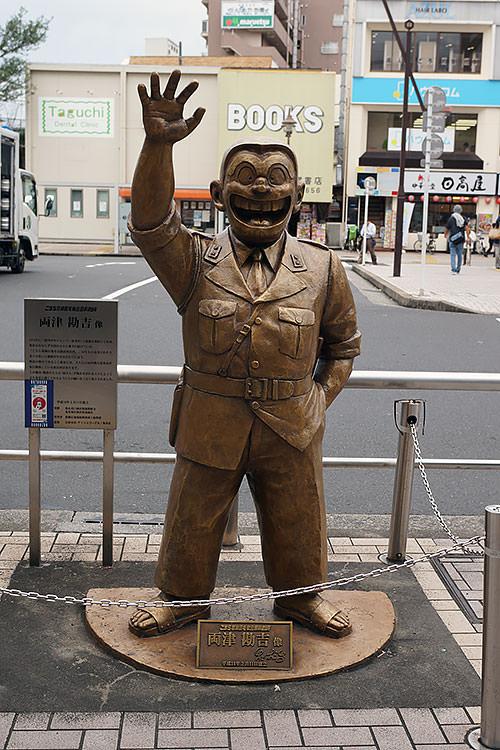 亀有駅北口は両津勘吉像や日高屋がある
