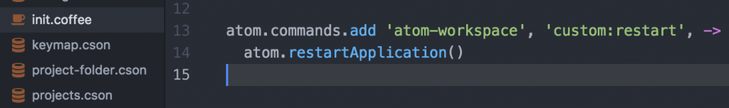 init.coffeeファイルを開いて以下のコードを貼り付ける