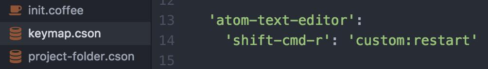 keymap.csonを開いて続けて以下のコードを貼り付け
