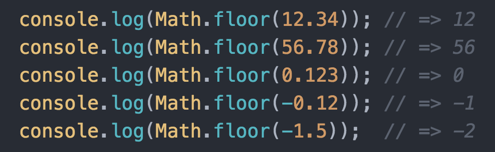 JavaScriptのJavaScriptのfloorは小数点切り下げで切り捨てではない