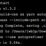 1分でできるnode-sassとautoprefixerを使用したSCSSコンパイル方法