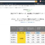 Amazonで9万円チャージでプライム会員なら3250円分のポイント付与!
