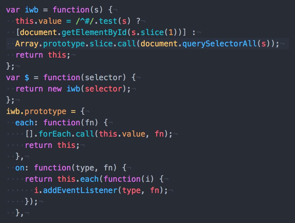 最低限の$のDOM操作を実行するためだけのjQueryのようなJavaScript