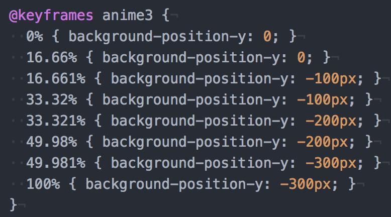 CSSパラパラアニメのファイルサイズが小さく、効率的な作成方法
