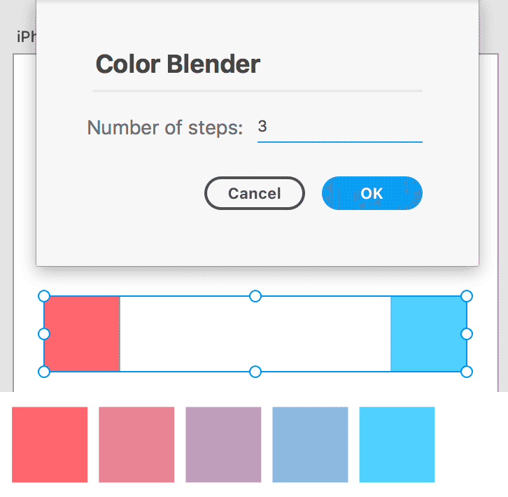 Adobe XD plugin Color Blender