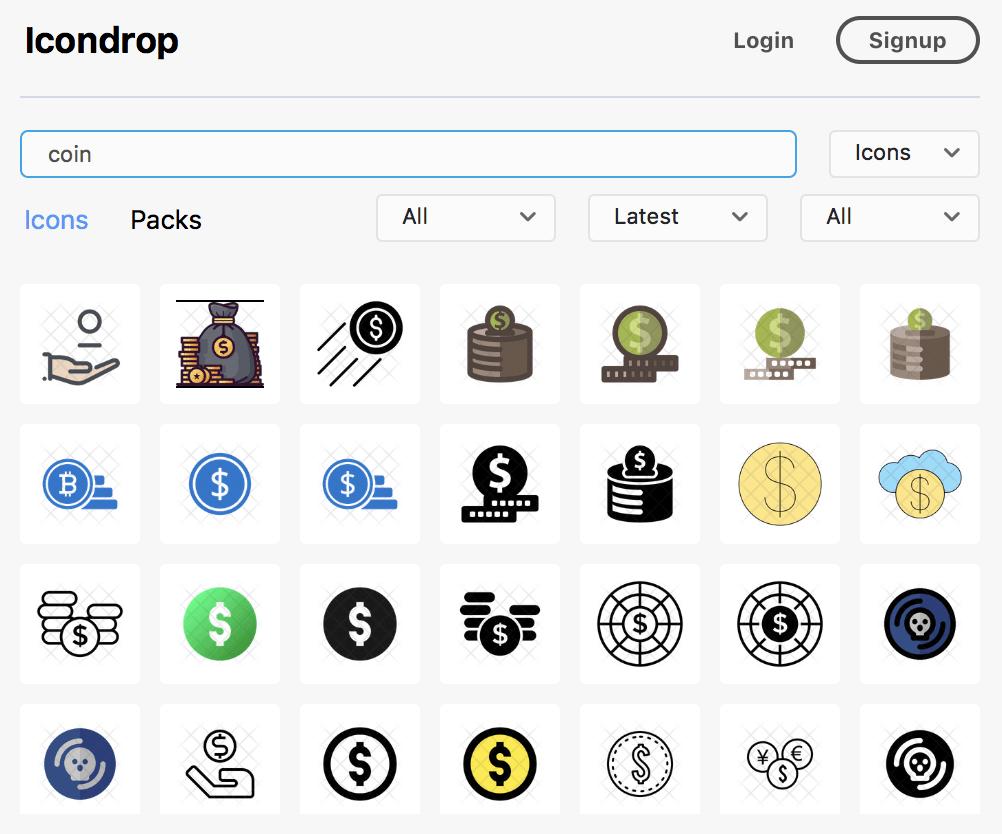 Icondrop