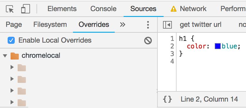 OverridesのEnabled Local Overridesのチェックがオンになっていればローカルファイルで上書きされる