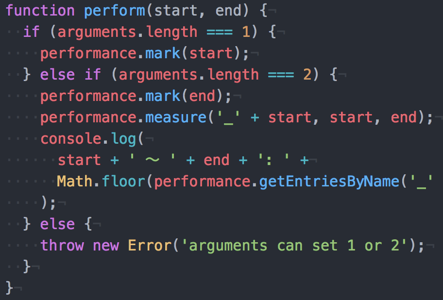 performance.markを簡単に使える関数を作成してパフォーマンス計測