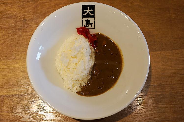 船堀 大島 味噌ラーメン ミニカレー(330円)