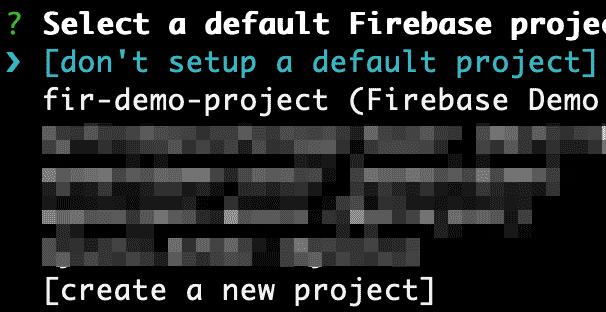 firebase initで作成したprojectが一覧に表示されないときの対処法
