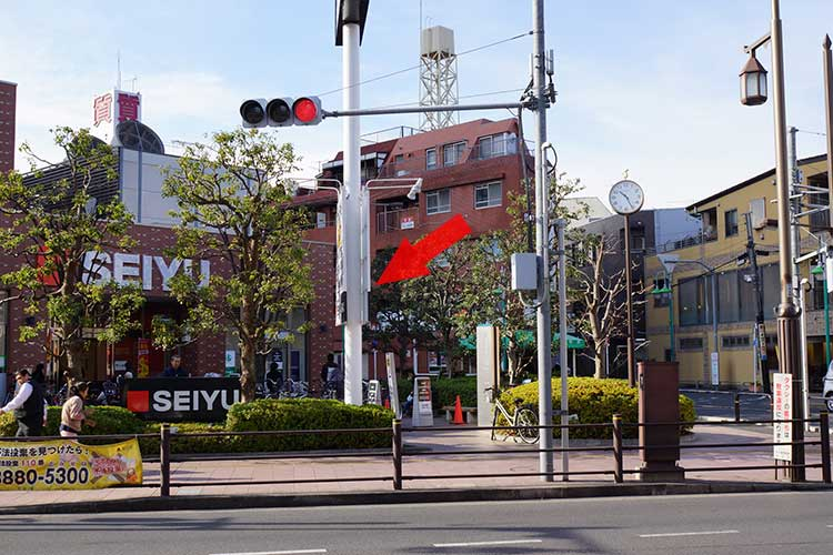 竹ノ塚 つけ麺和 行き方3 SEIYU