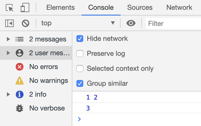 Chrome 73 Logpoints追加時の注意点 Console結果