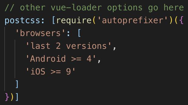Vue CLIでSCSSを有効にしたなら必ずautoprefixerの設定も必要