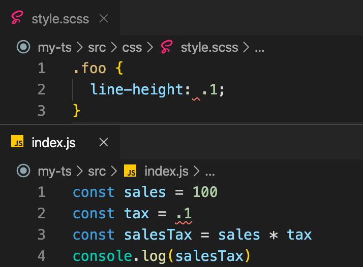 JavaScriptもCSSのように数値の小数点の0を省略できる