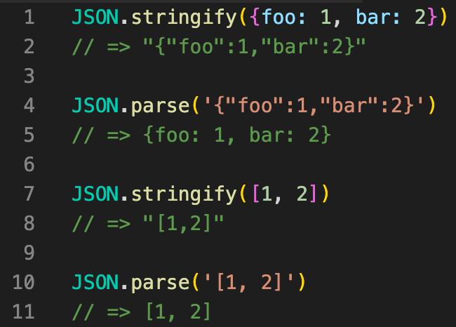JavaScriptのJSON.stringifyやJSON.parseは配列にも使用可能