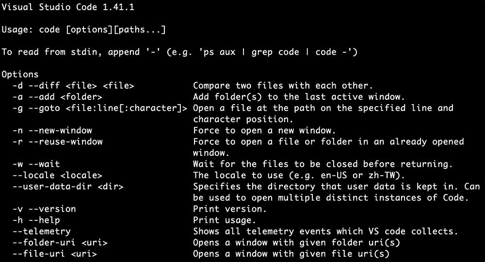 意外と知られていないVS Codeのcodeコマンドの使い方