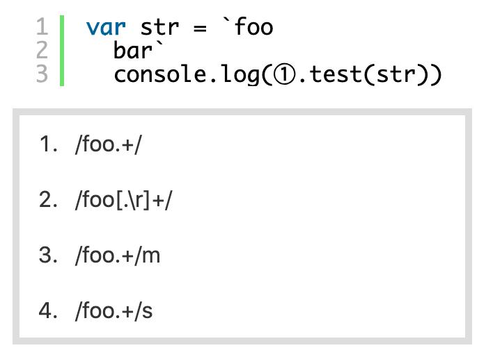 JavaScript正規表現で改行入りテンプレートリテラルのマッチ方法