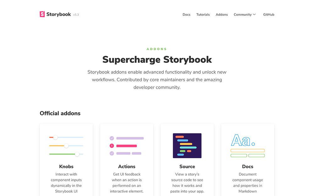 Storybook for HTMLをインストール後に追加するべきアドオン一覧