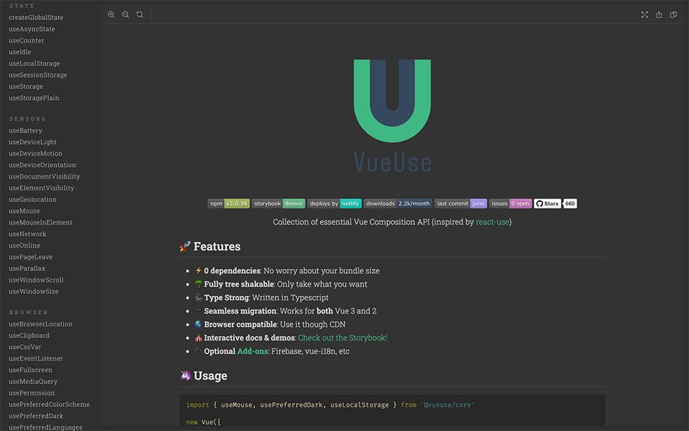 Vue.jsの便利なComposition APIライブラリ VueUseを使用した感想