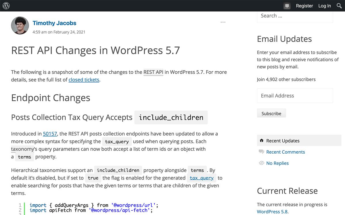 WordPress 5.7のREST APIはパラメーターの値が空だとエラーになる