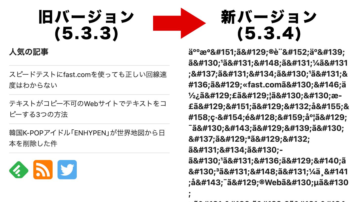 WordPress Popular Postsプラグインの5.3.4で文字化けするバグが発生中