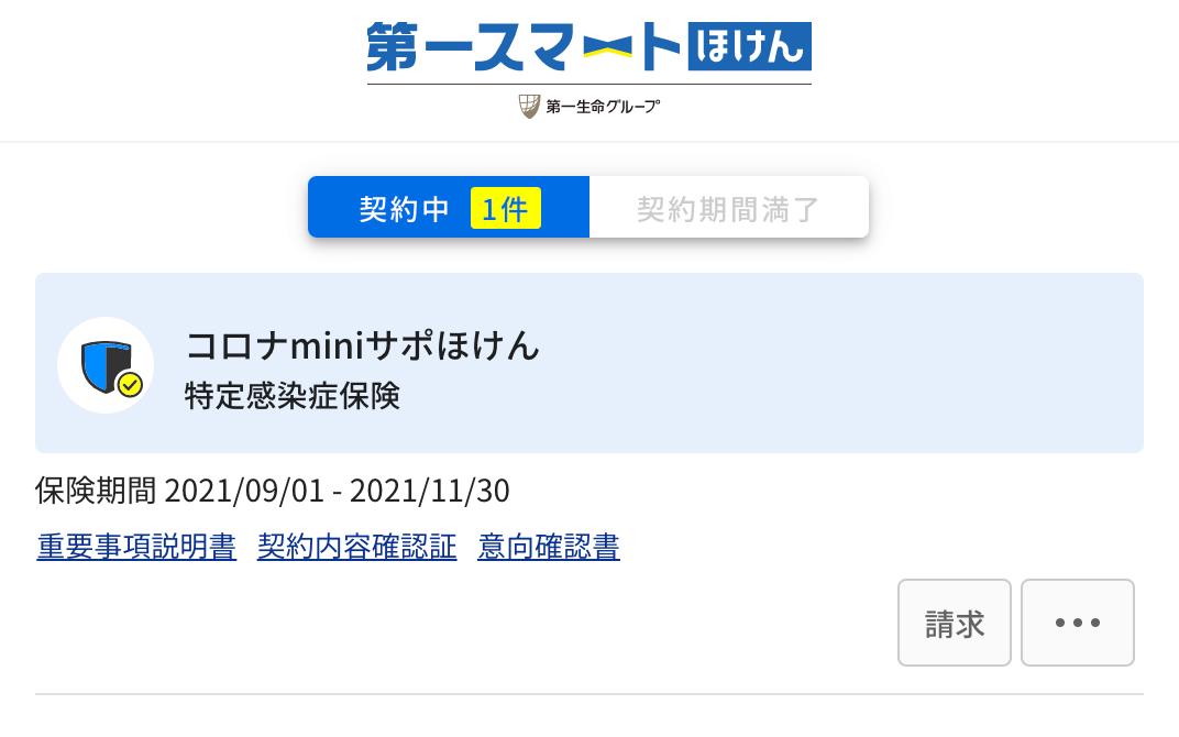 コロナminiサポほけん 保険期間